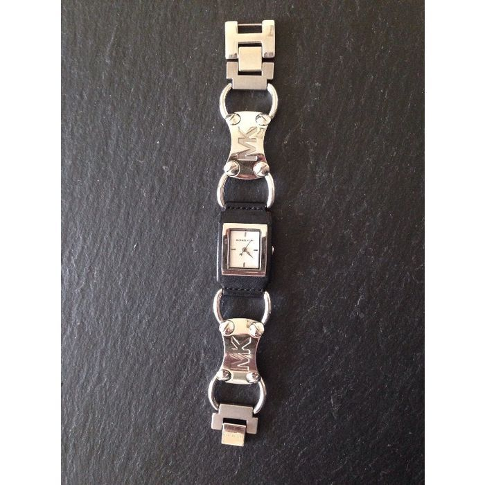 michael kors leather and stainless steel watch model number mk 2101