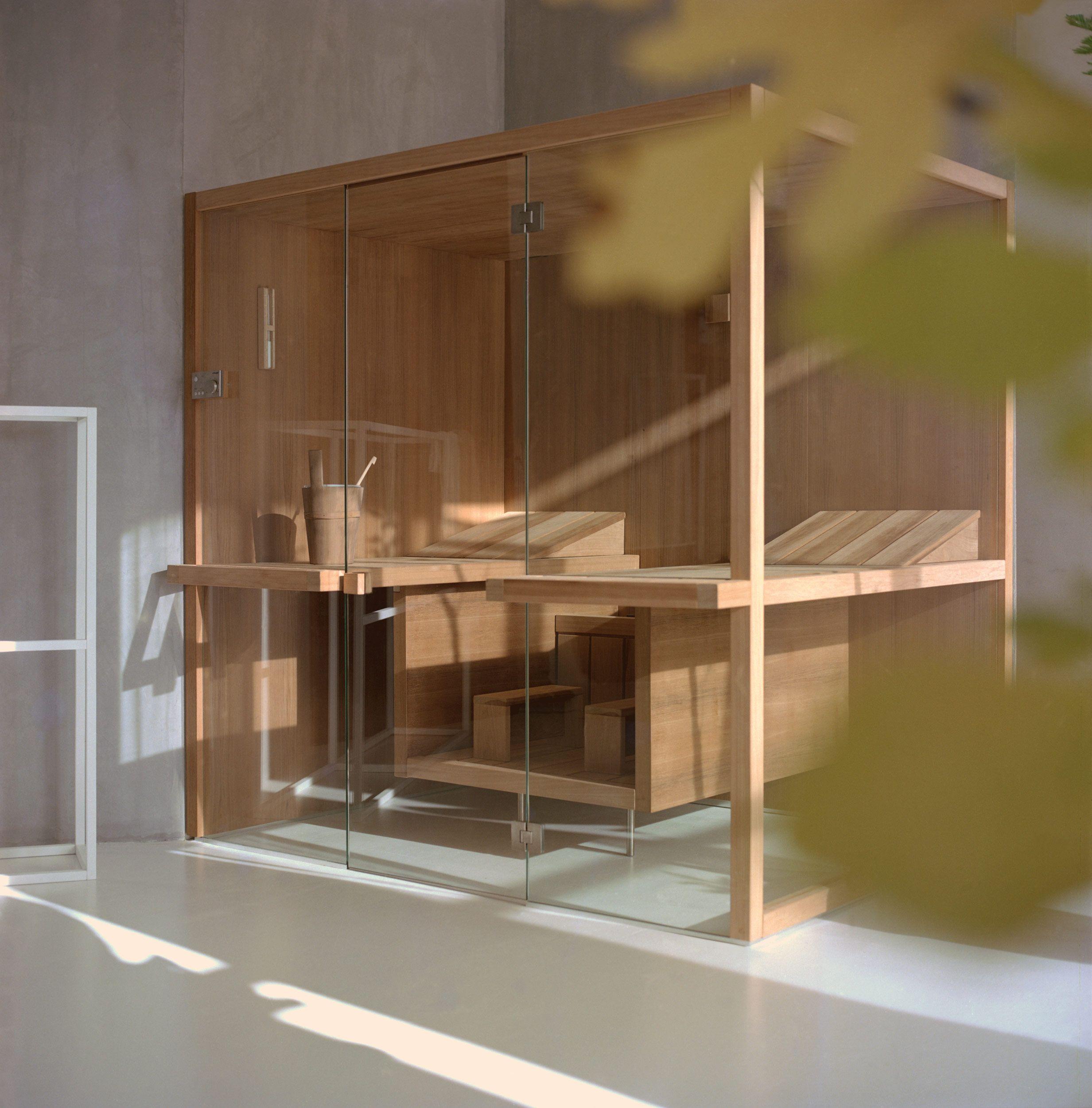 Sauna modern design  Sauna au Design contemporain et original, symétrie des lignes ...