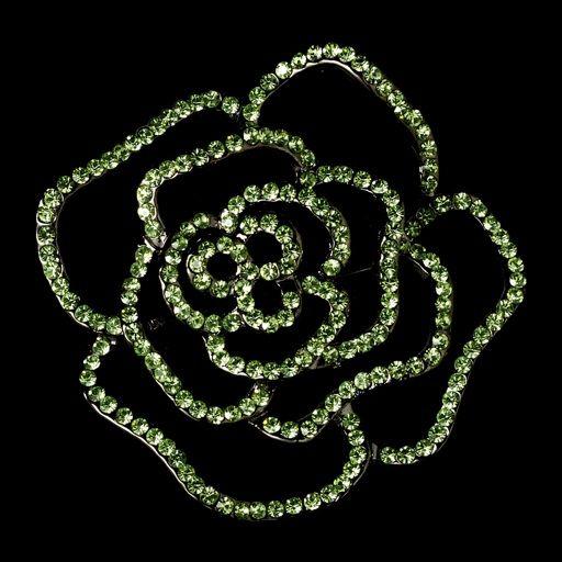 Swarovski Crystal Rose Brooch In 8 Color Choices