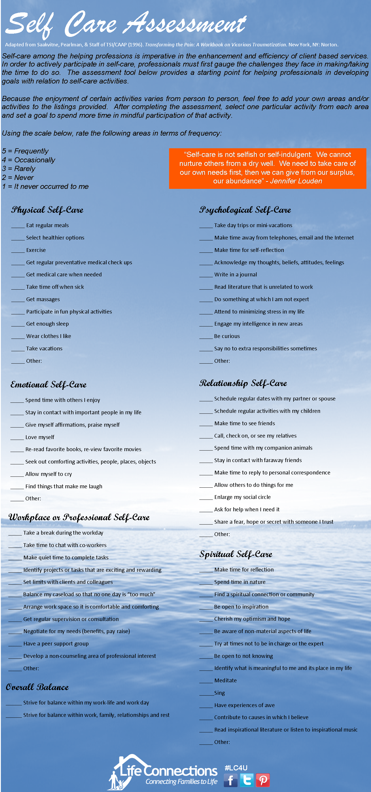 Self Care Assessment: To Lead A Whole And Healthy Life, Even If You Are Not  A Care Giver. This Self Care Assessment Speaks To Teachers And Parents As  Well ... Home Design Ideas