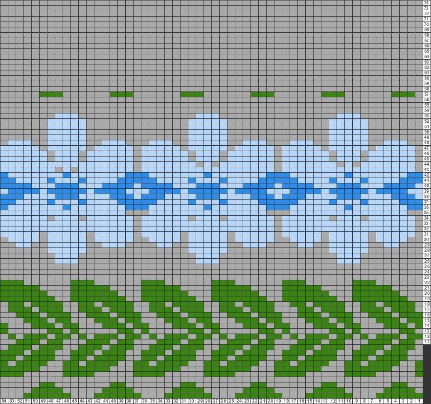 Tricksy Knitter Charts: Leaf Border 1 by ECH | Trui Jurken ...