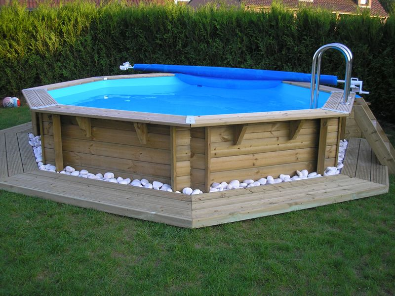 Piscine hors sol intex castorama piscine pinterest for Piscine bois a enterrer