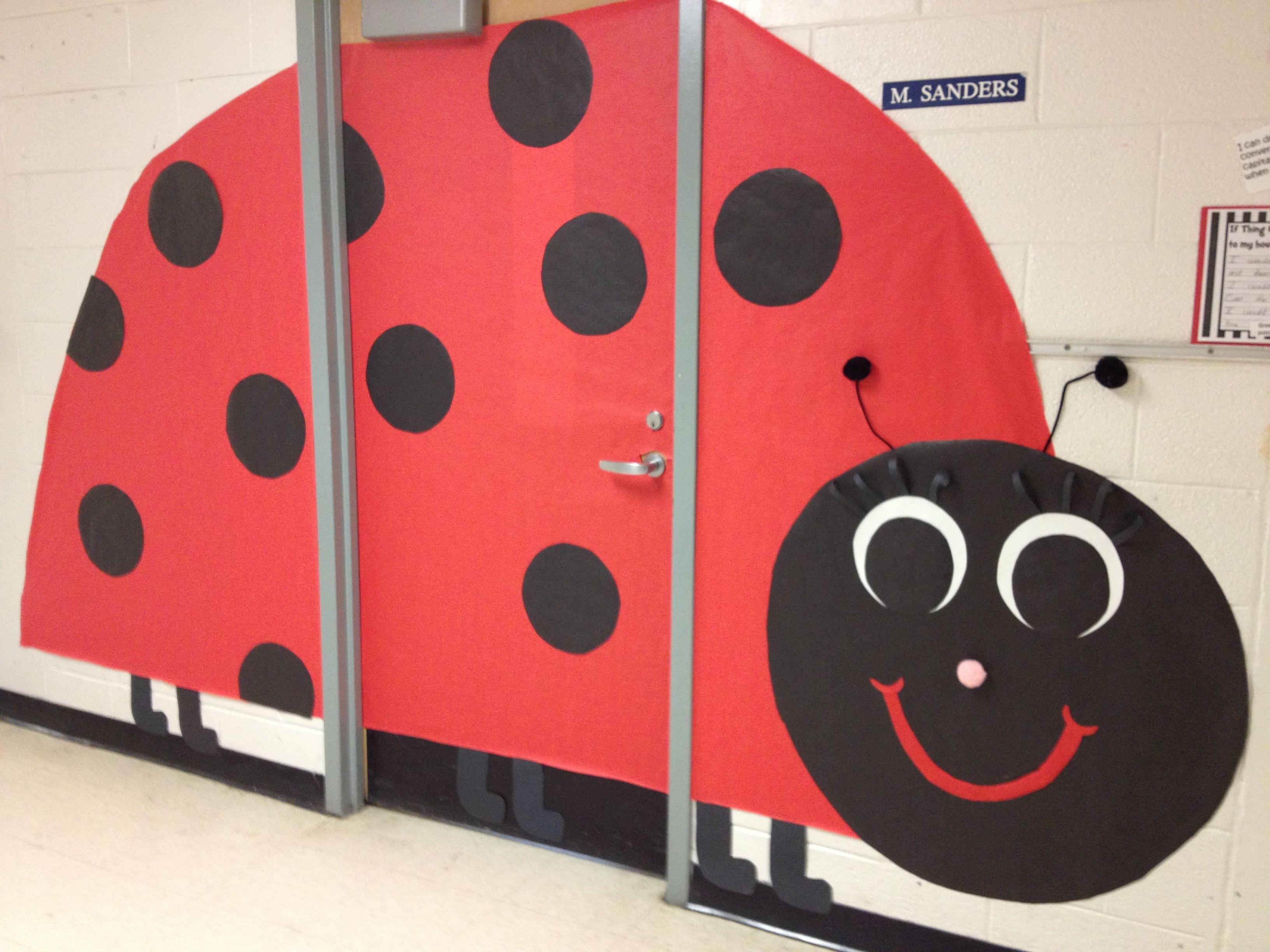 Ladybug Classroom Decoration Ideas : Ladybug classroom door spring classroom door