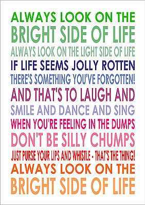 Details about Always Look On The Bright Side Of Life - Lyrics ...