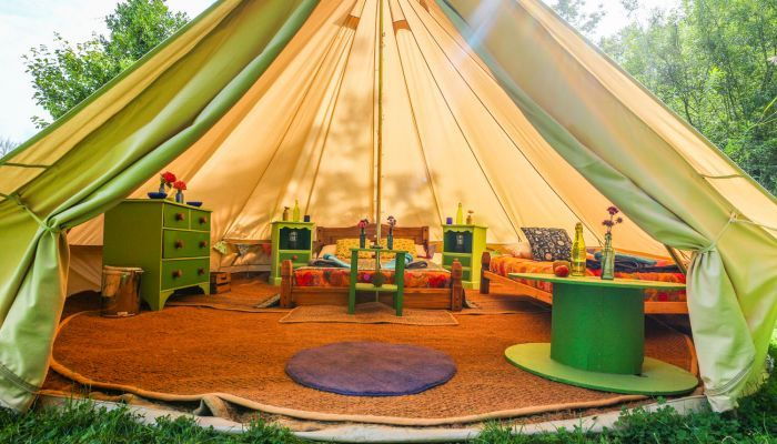 Gl&ing Bell Tents Norfolk - Waterfall Glade | West Lexham & Glamping Bell Tents Norfolk - Waterfall Glade | West Lexham ...