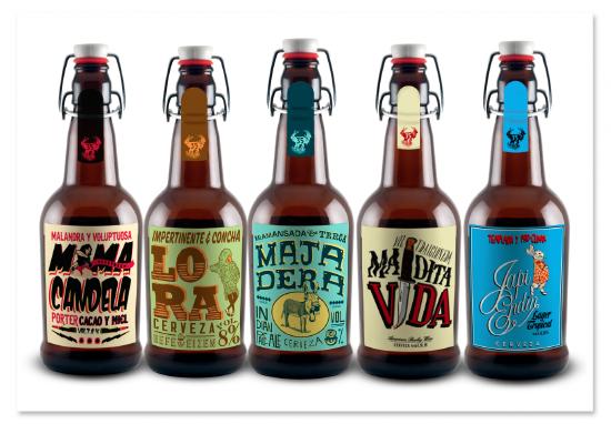 La 35 Fabrica De Cervezas By Wooki Colectivo Creativo Via Behance Beer Craft Beer Craft Beer Fest