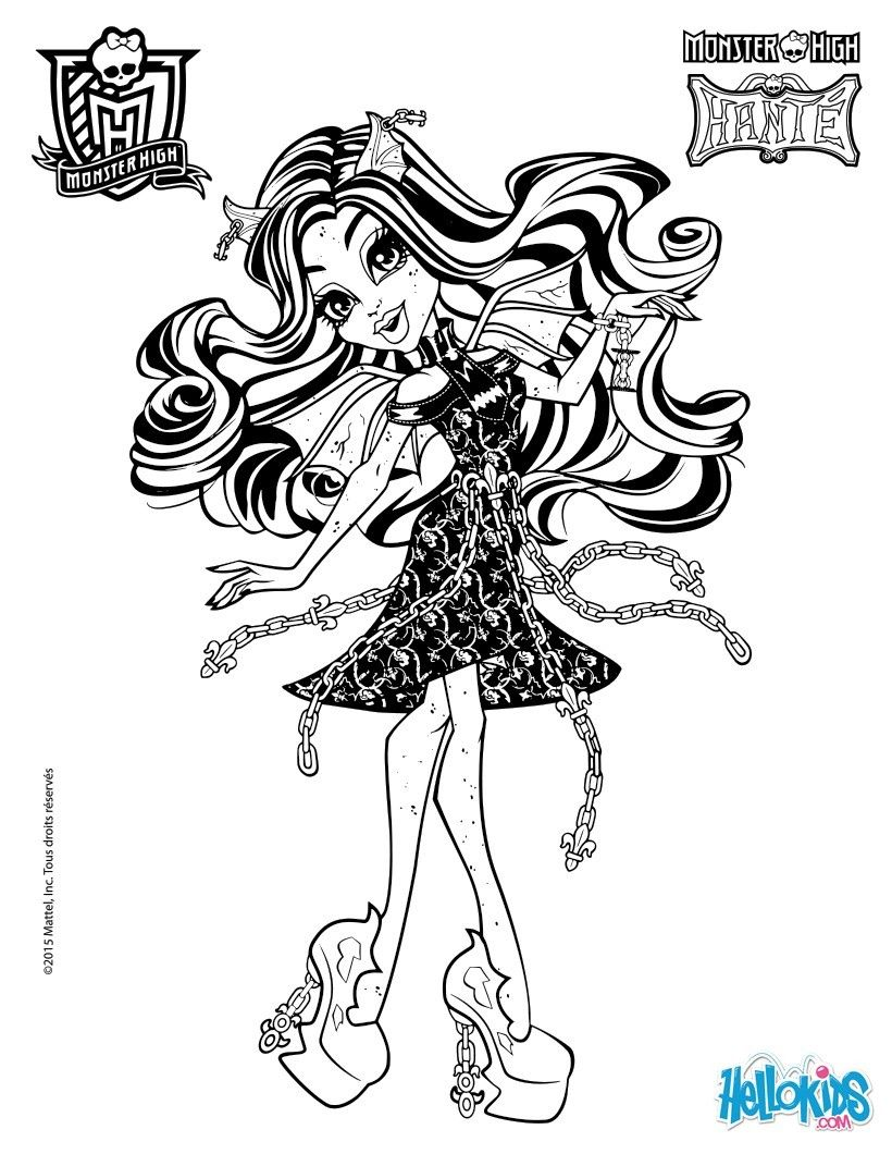 rochelle goyle 2 coloring page monster