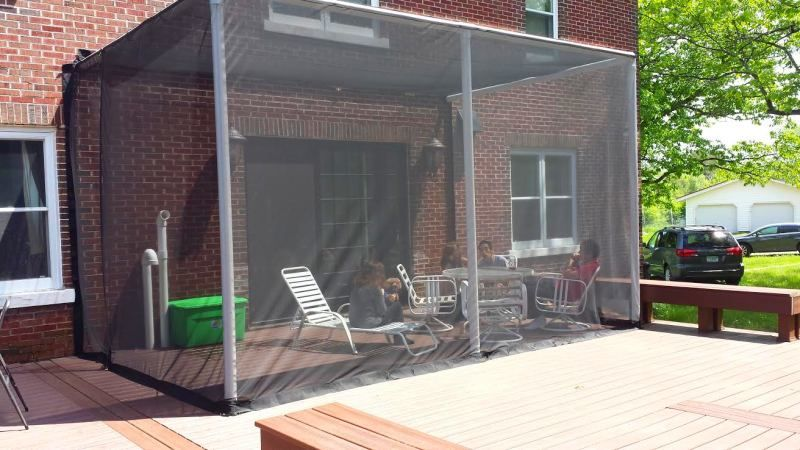 Deck Screen Insect Curtains Screened In Deck Screened In Patio Greenhouse Interiors