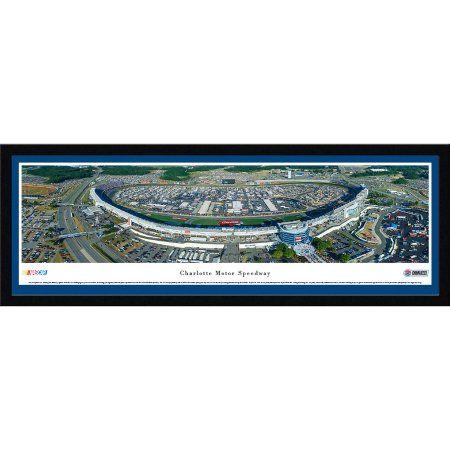 Charlotte Motor Speedway - Blakeway Panoramas Nascar Print with Select Frame and Single Mat