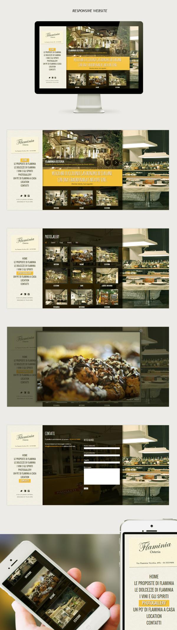 Restaurant Website By Renato Proia Via Behance Unique Website Layout Web Layout Design Restaurant Website