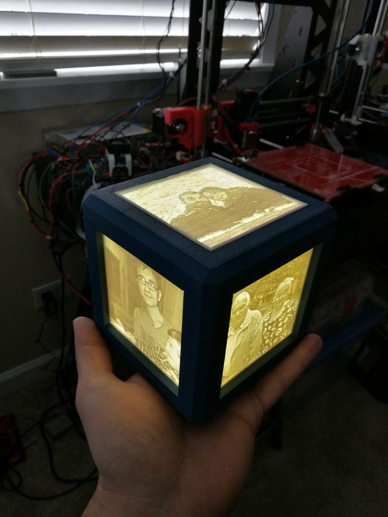 Lithophane Lamp V4 V3 By Grkmanga Thingiverse Lamp Lamp Light Strip Lighting