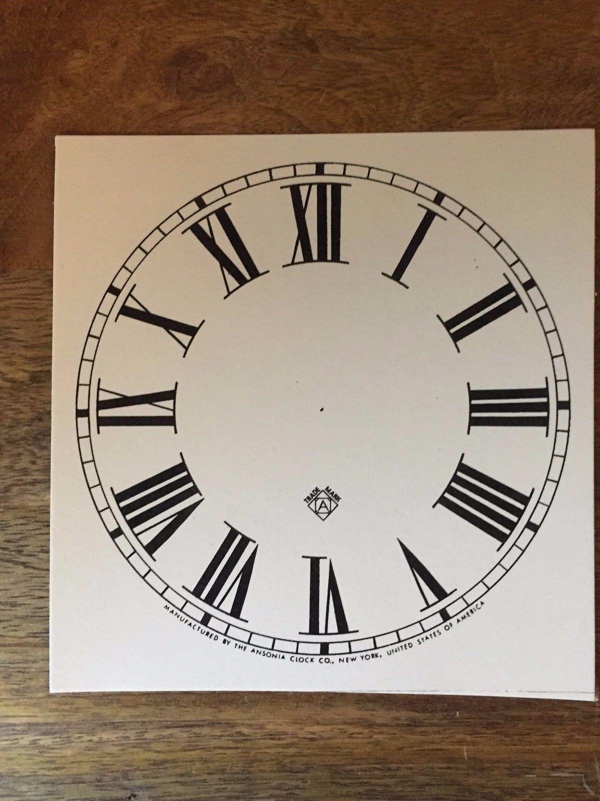 paper clock dials faces