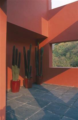 Une terrasse tex mex mur peint en tf220 3 mascotte teinte issue du nuancier totem fa ade - Mur exterieur maison ...
