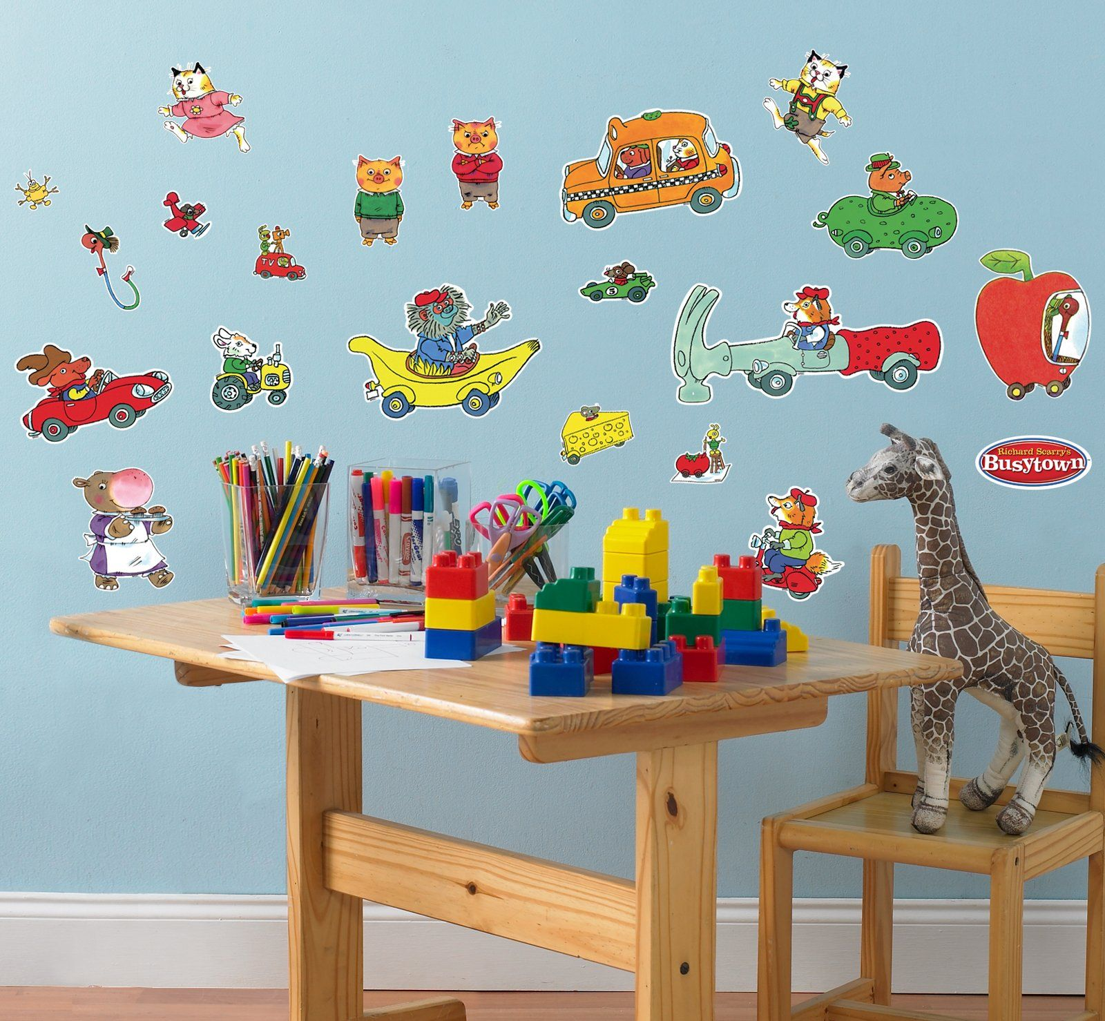 Richard scarrys busytown removable wall decorations from richard scarrys busytown removable wall decorations from birthdayexpress tons of other party supplies amipublicfo Image collections