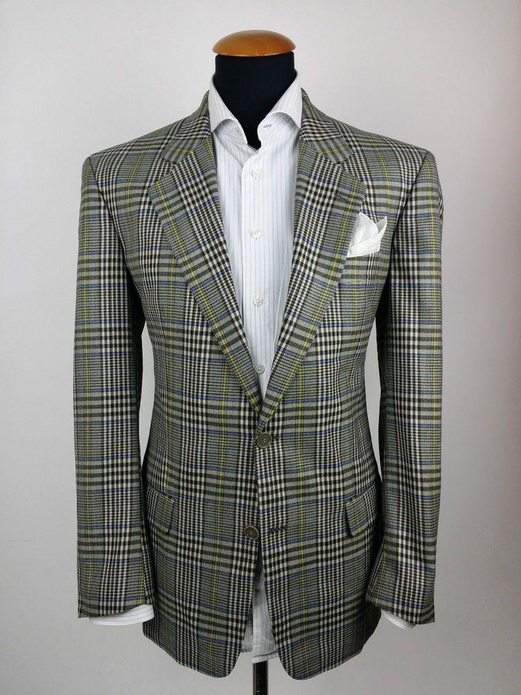 Vintage Hugo Boss Light Brown Check Wool Blazer Sport Coat Jacket Size L w3D3EiJJ