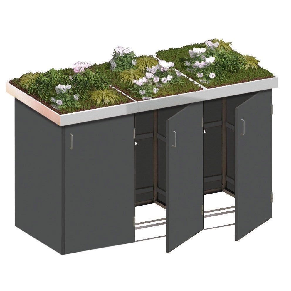 Cache Poubelle Gris Anthracite L 139 X H 129 X P 86 Cm En 2020 Cacher Les Poubelles Rangement Exterieur Idee Amenagement Jardin