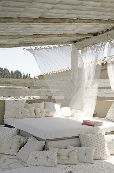 outdoors in white