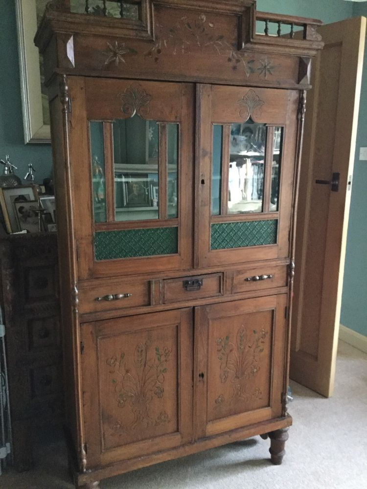 old/antique ethnic colonial east india wood and glazed cupboard/dresser/display  | eBay - Old/antique Ethnic Colonial East India Wood And Glazed Cupboard
