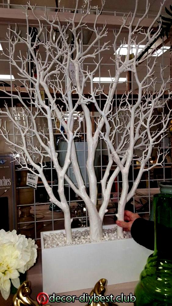 Diy Dekoration Dekoration Diy Weddingcenterpiecesdiy In 2020 Tree Branch Decor Tree Branch Decor Diy Branch Decor