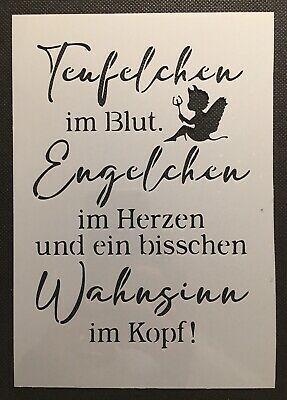 Finden Sie Top-Angebote für Shabby Chic Schablone Kreide-Farbe f.Schild Teufel Engel Spruch Zuhause Glück bei eBay. Kostenlose Lieferung für viele Artikel!