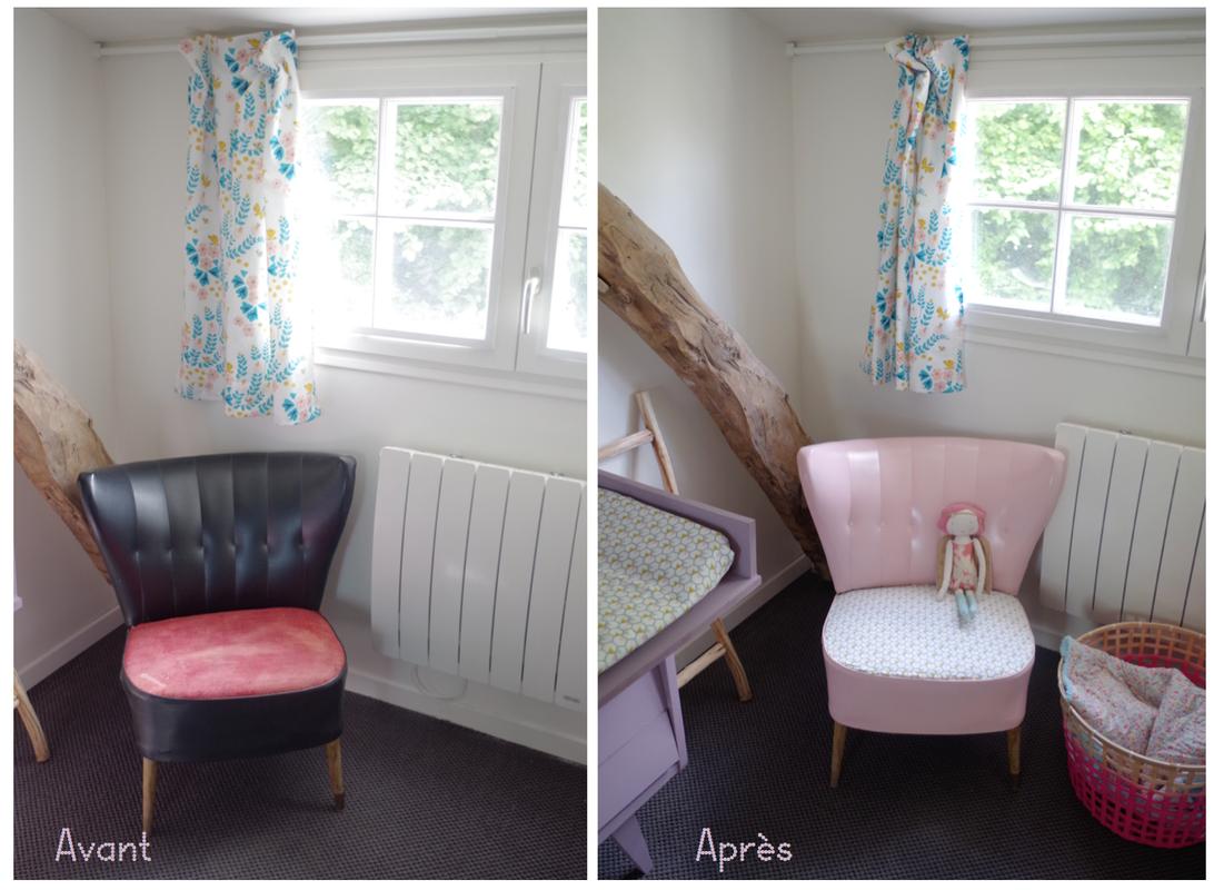 diy relooker un fauteuil en cuir en le peignant paint a. Black Bedroom Furniture Sets. Home Design Ideas
