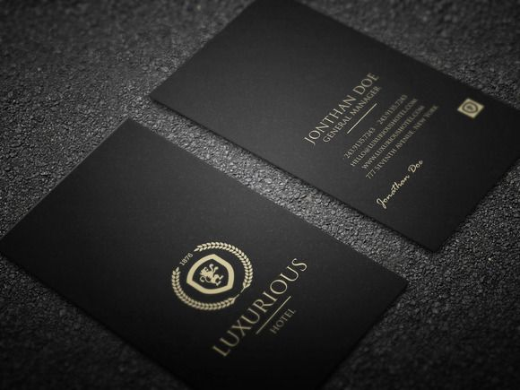 Luxurious Business Card Luxury Business Cards Business Card Photoshop Business Cards Creative Templates