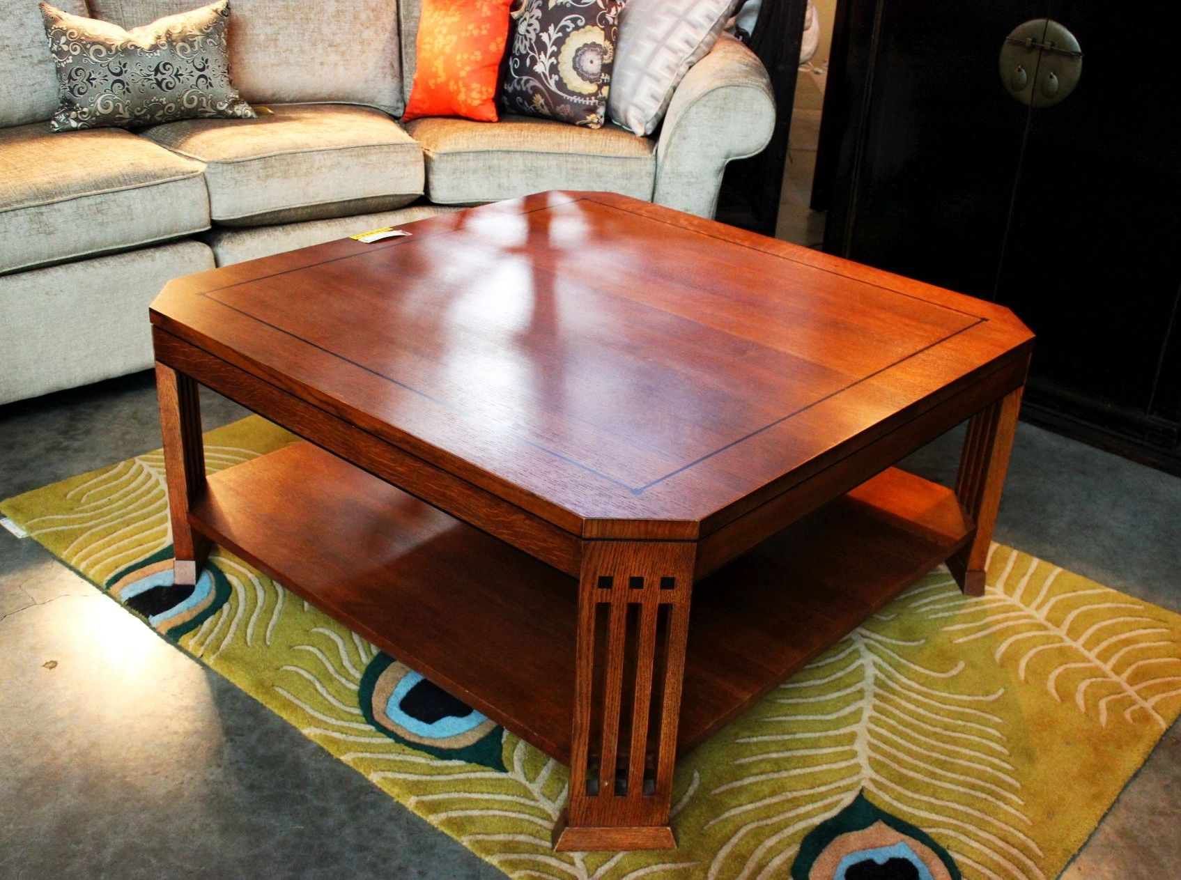 Brilliant Stickley Mission Oak Coffee Table Sold Consignment Bralicious Painted Fabric Chair Ideas Braliciousco