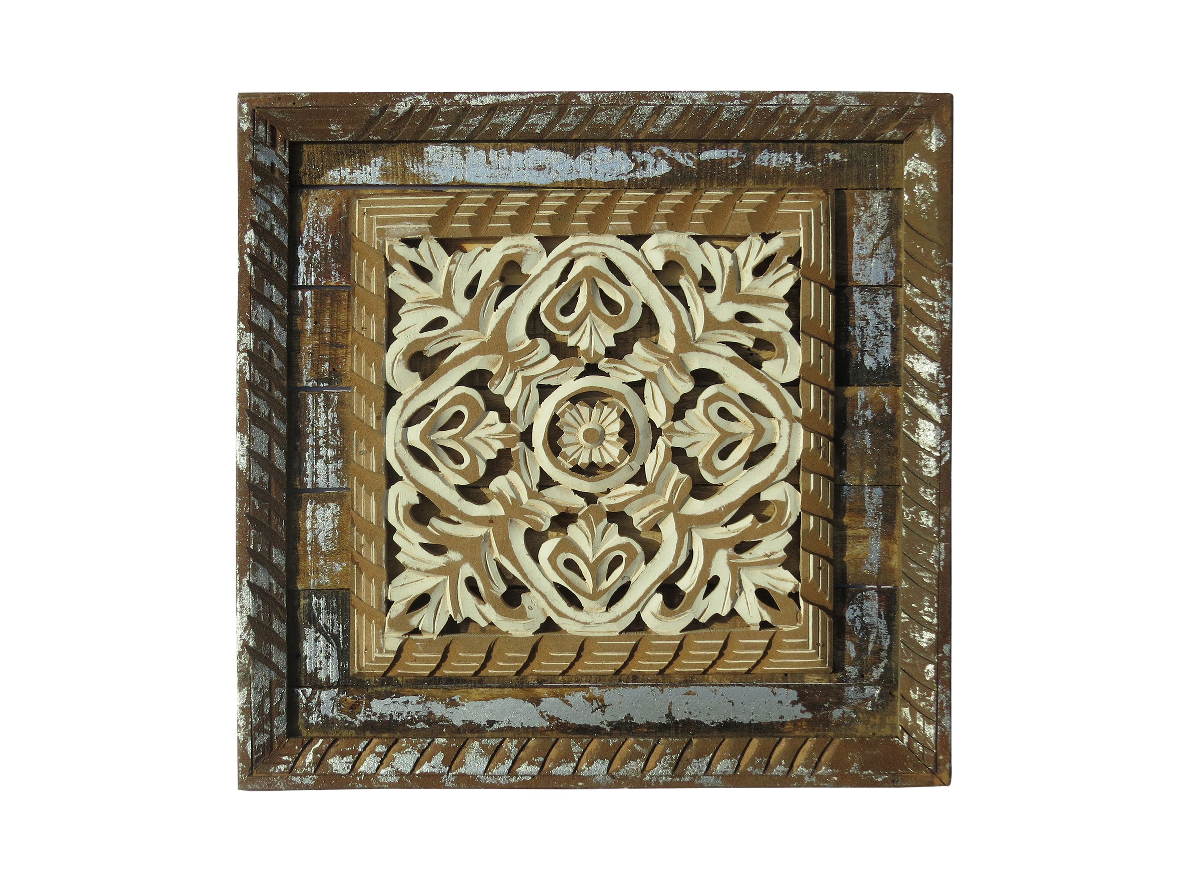 Mdf Carved Panel Design In Natural Brown And Cream Finish Reliable Durable Indian Authentic Handicrafts Wit Hand Carved Wood Class Decoration Wood Paneling