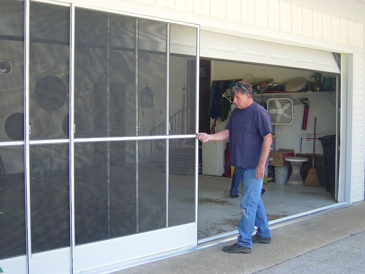 Sliding Garage Door Screen Panels One Functional Part In Your House Is The Garage Some Prefer A In 2020 Sliding Garage Doors Garage Screen Door Sliding Screen Doors