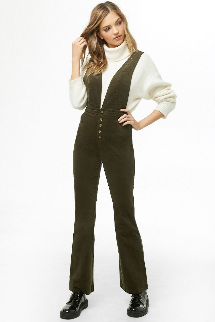 dd9179100 Plunging Corduroy Overalls | Style: My Closet