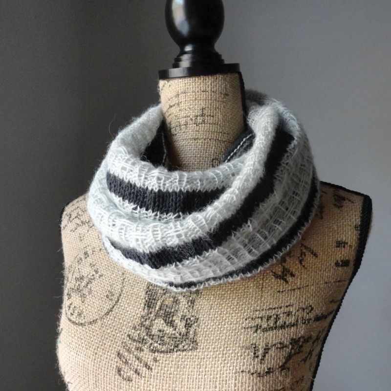 Striped Affair Infinity Scarf | Infinity, Scarves and Knit cowl