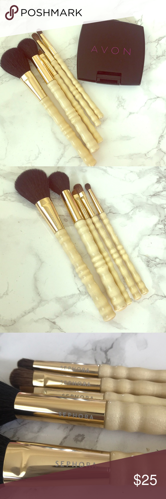 Sephora travel brush set 5 Sephora travel brushes 1 Avon