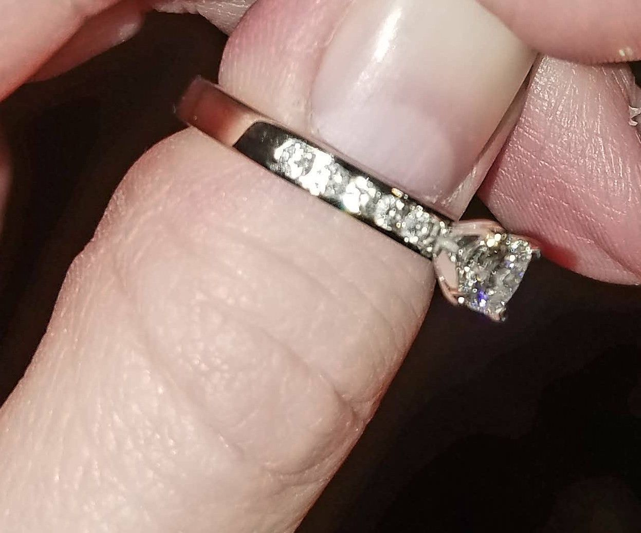 0.48ct solitaire White Gold Hearts on Fire Dream Cut Diamond ...