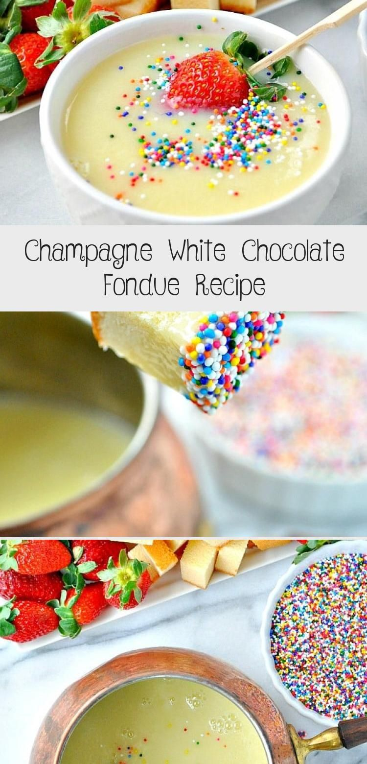 Champagne White Chocolate Fondue Recipe #chocolatefonduerecipes