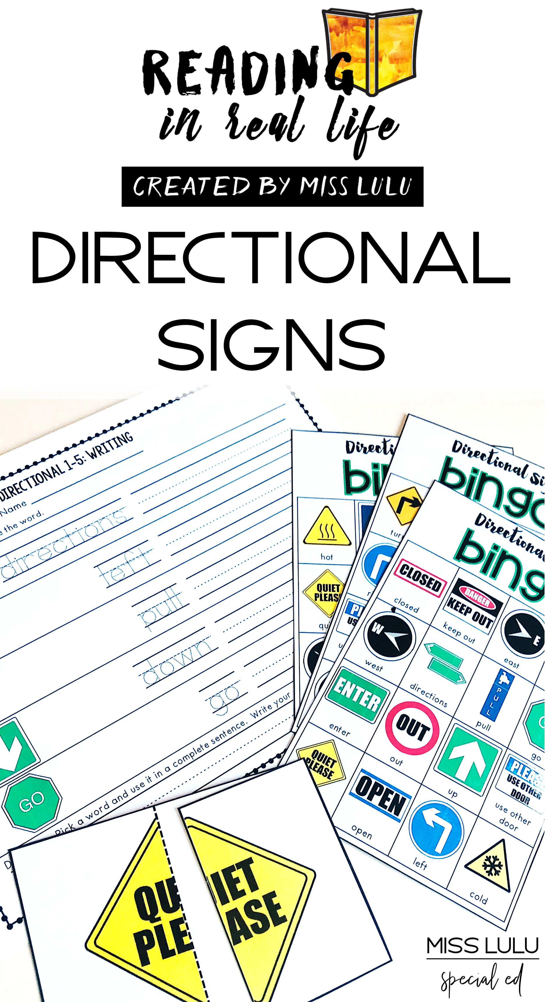 Functional Reading Unit Directional Signs