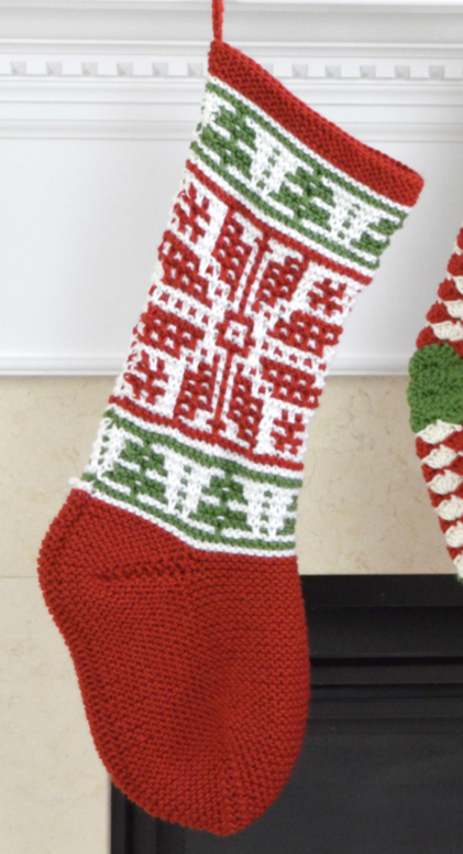 Free Knitting Pattern for Mosaic Stitch Stocking - Christmas ...
