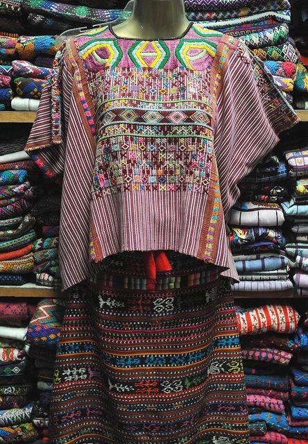 Guatemalan Huipil in Mexico by Teyacapan, via Flickr