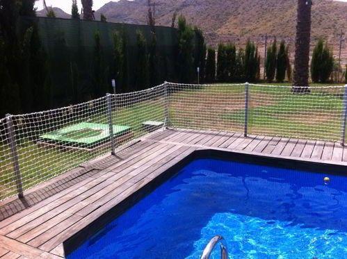 Red para vallado de piscinas barandillas pinterest - Barandillas de obra ...