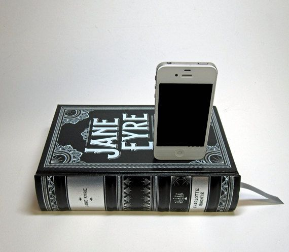 Jane Eyre Charging Station for iPhone and iPod. $49.00, via Etsy.