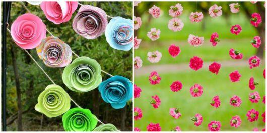 Cortinas de flores de papel encantam qualquer ambiente - Artigos ...