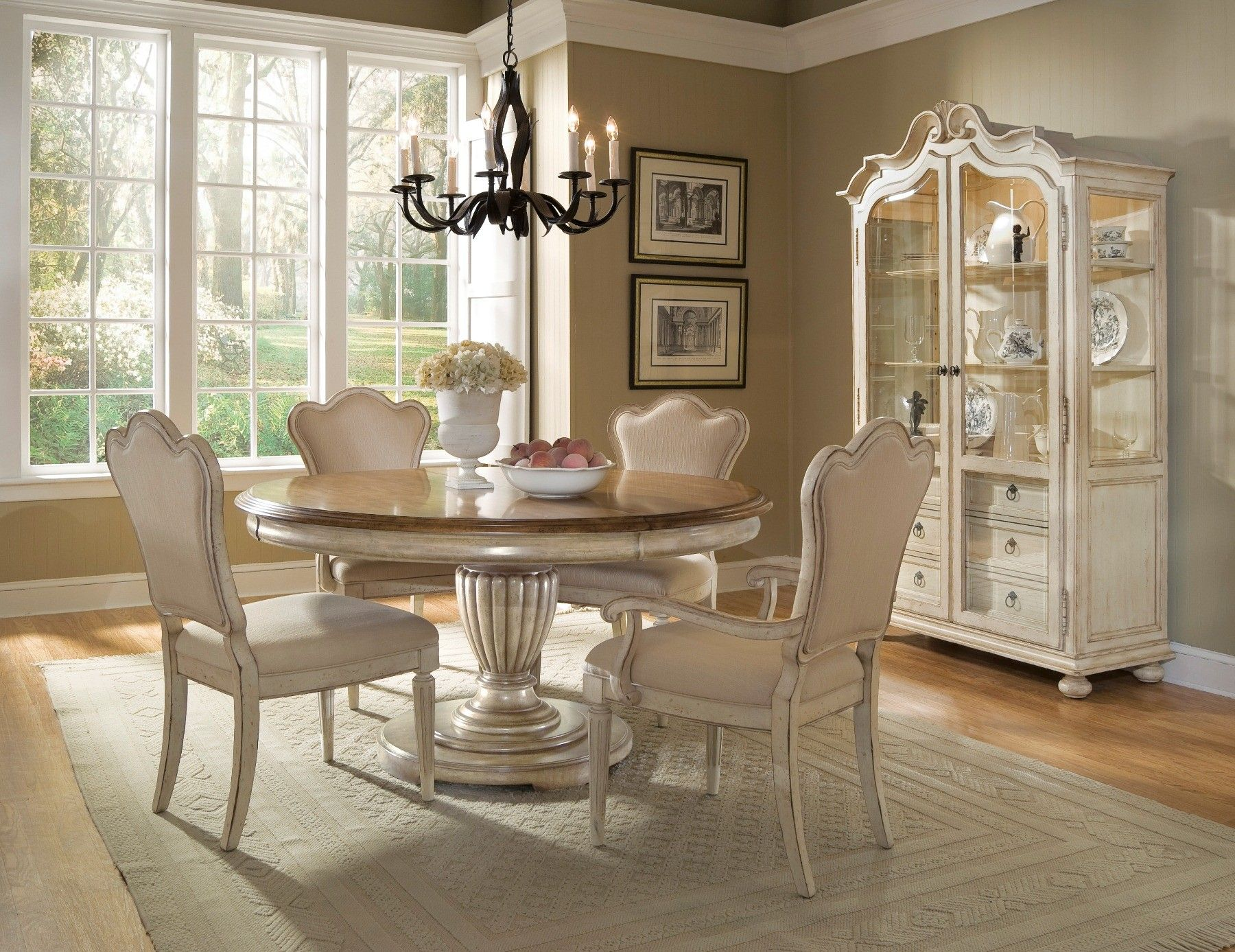 Black and white dining room sets - White Dining Room Furniture