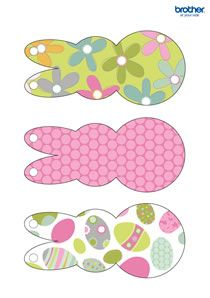 free printable easter holiday templates from brother creative center