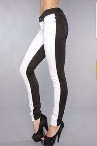 48efb22a8d half black half white pants