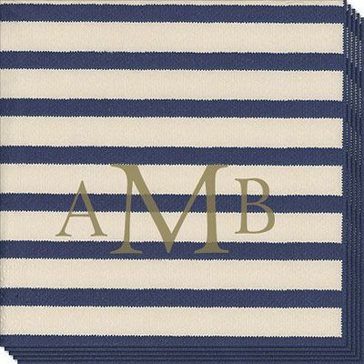 Blue Stripe Caspari Napkins