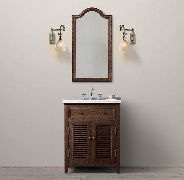 Shutter Powder Room Vanity Sink Powder Room Vanity Restoration Hardware Bathroom Vanity Vanity Sink