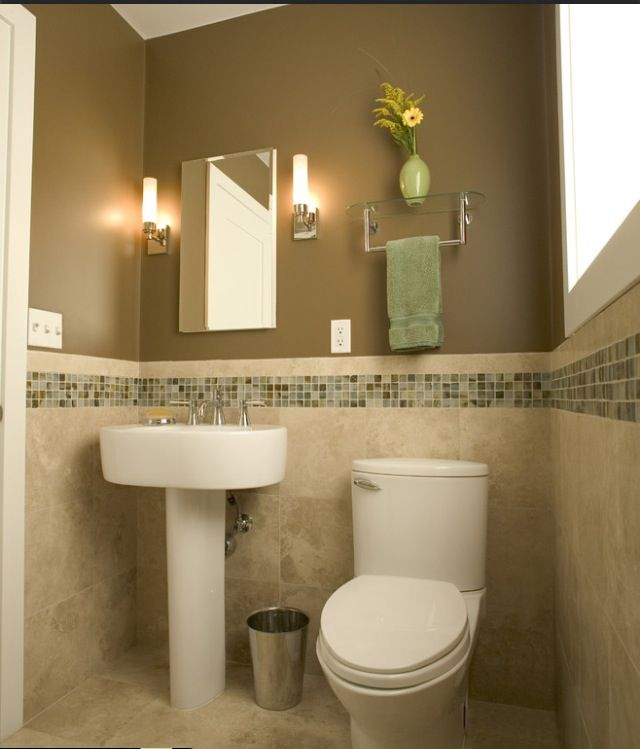 Neutral Colors For Small Powder Rooms: Half Bathroom Remodel, Bathroom, Bath Tiles