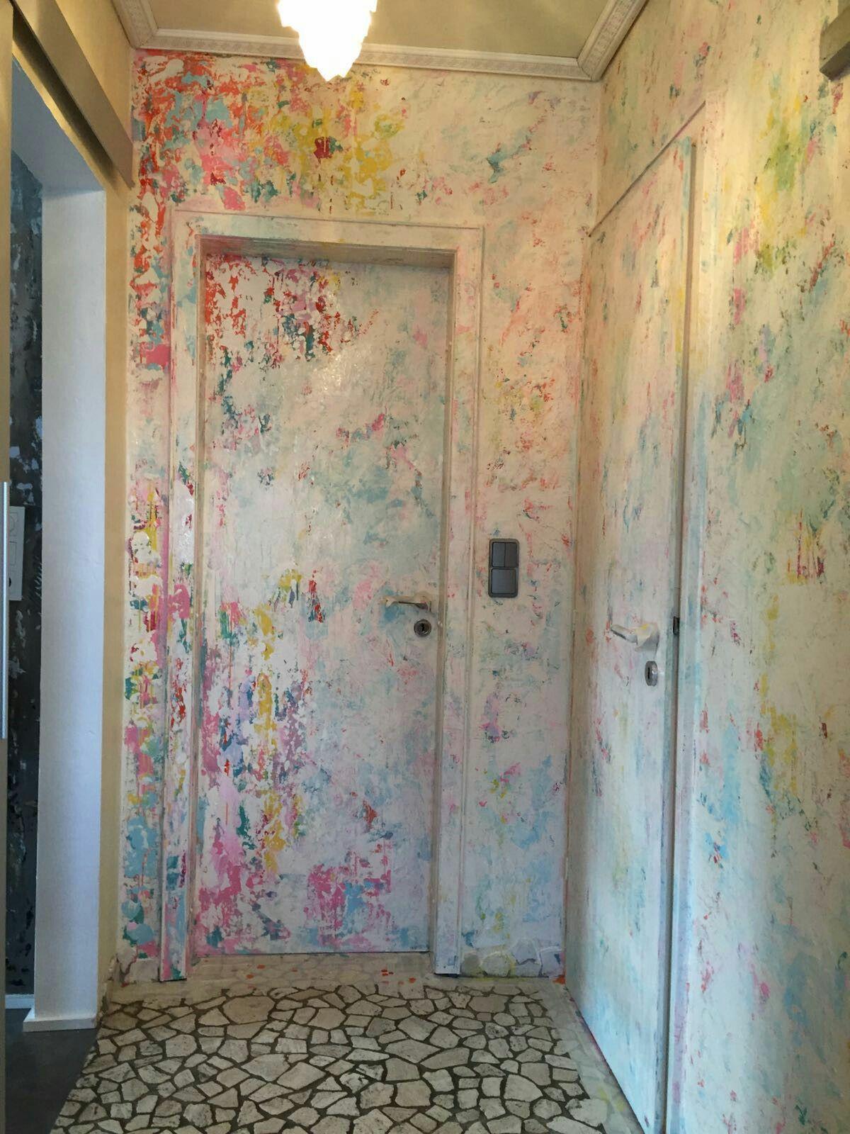 Crazy Wandgestaltung Im Flur, Spachteltechnik Mit Dispersionsfarbe