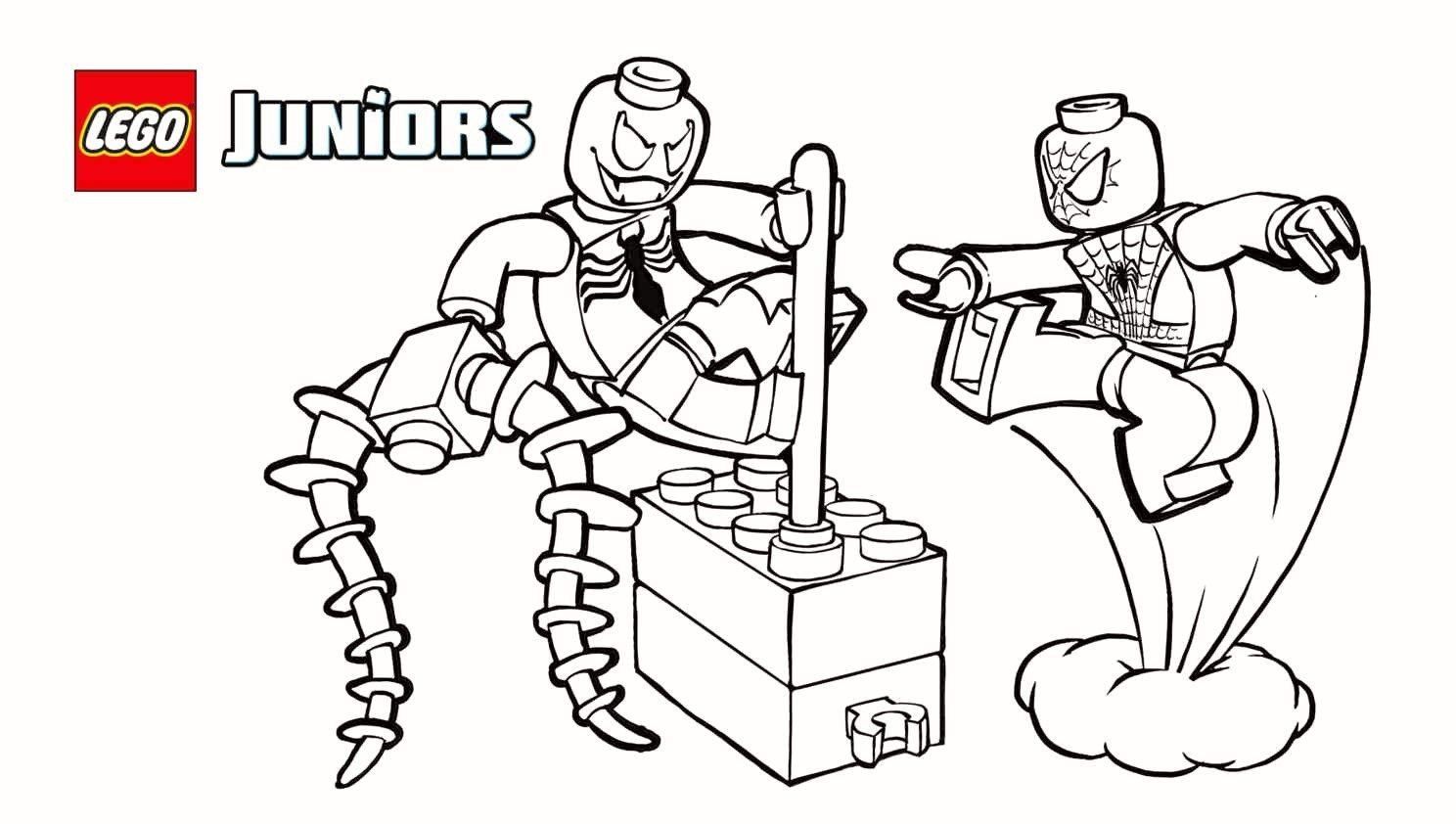 Lego Spiderman Coloring Pages Lego Spiderman Coloring