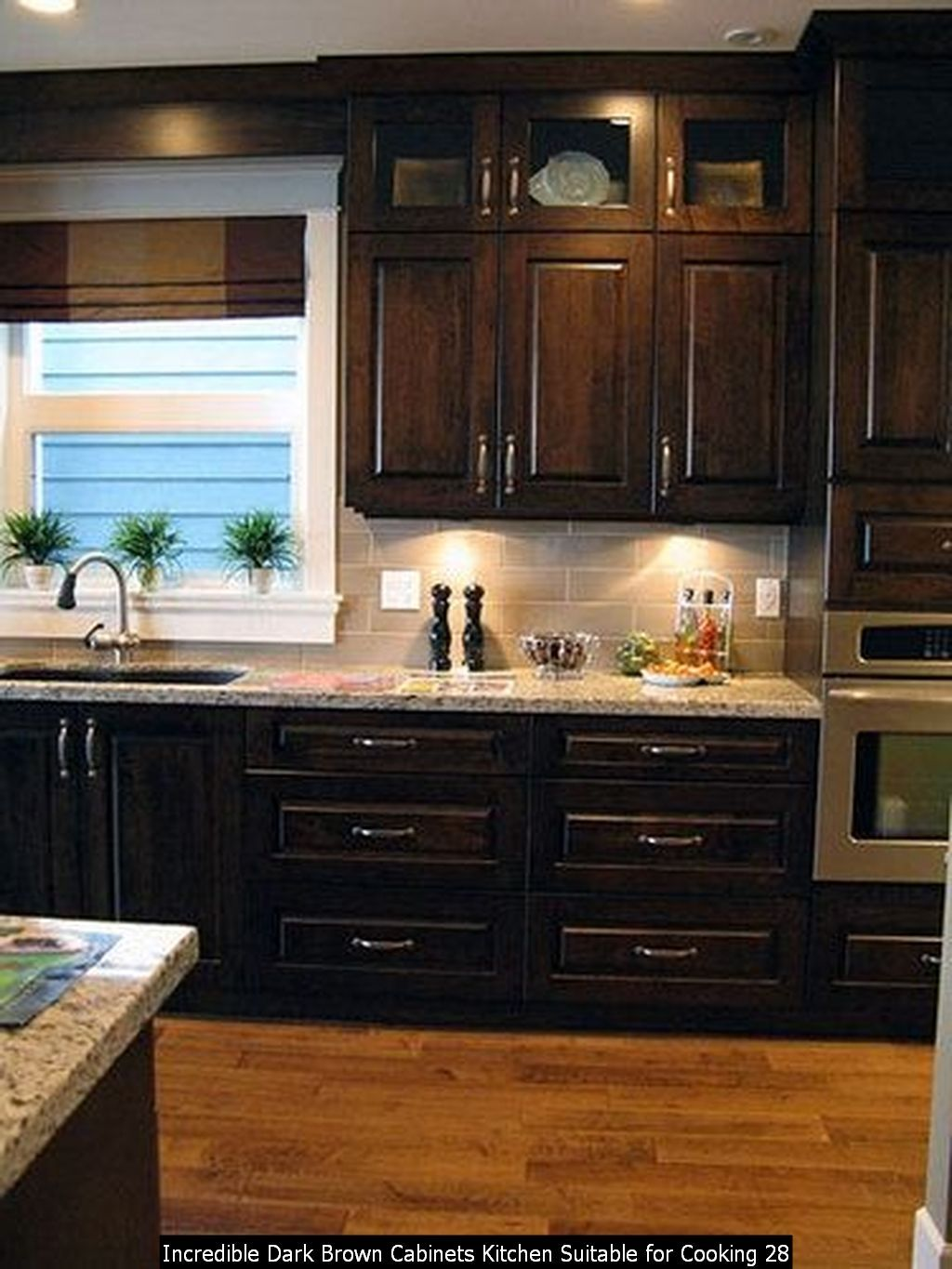 30+ Incredible Dark Brown Cabinets Kitchen Suitable for ...