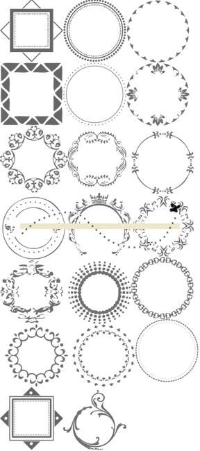 round images circles scrapbooking cards printable